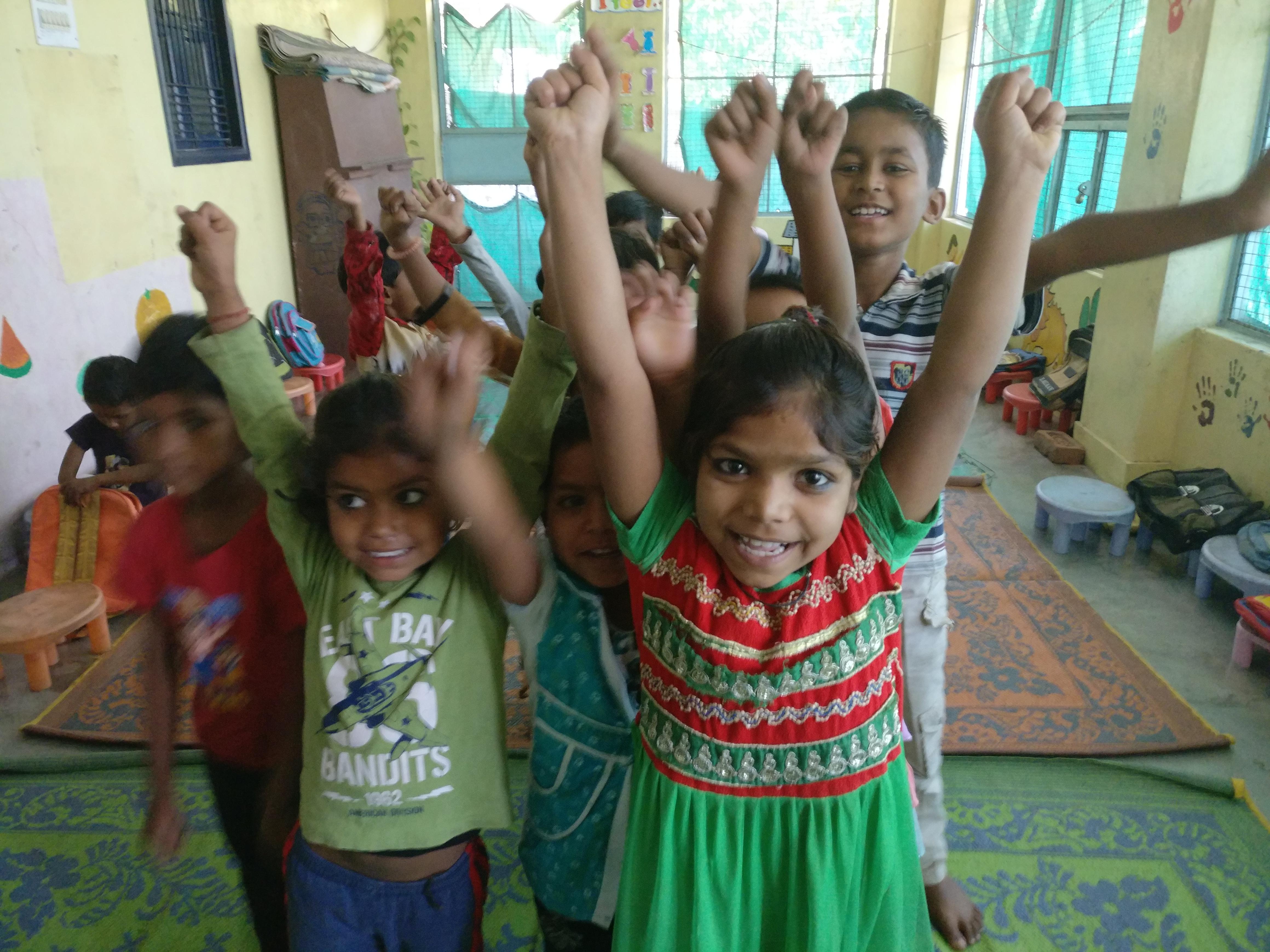 Voluntariado con nin?os y nin?as en Varanasi India